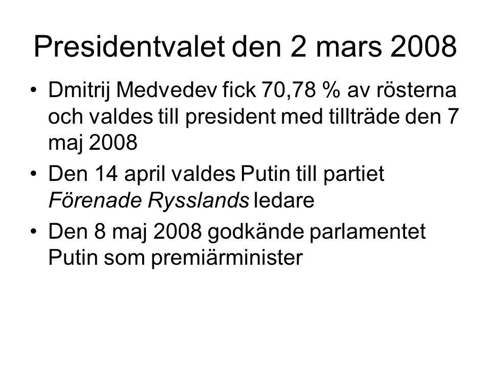 Presidentvalet den 2 mars 2008