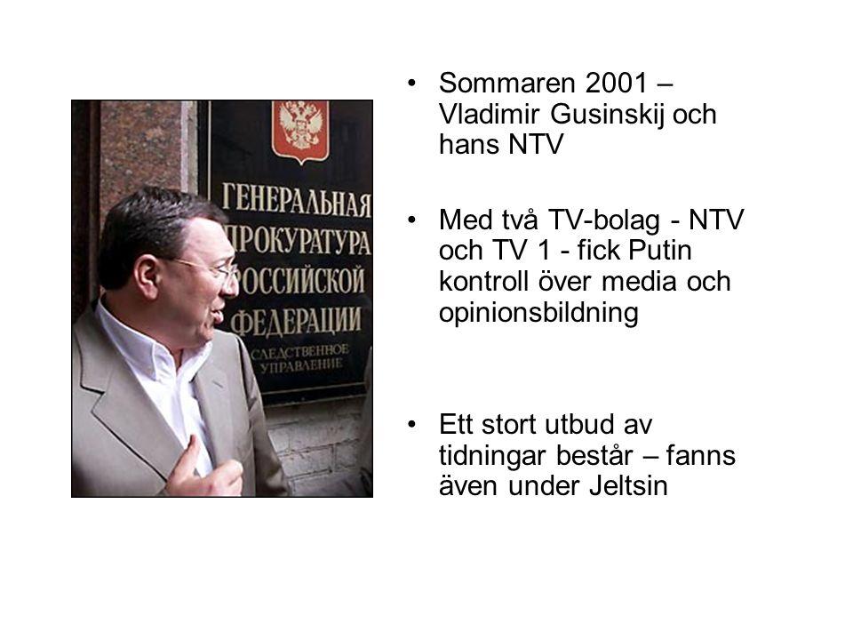 Sommaren 2001 – Vladimir Gusinskij och hans NTV