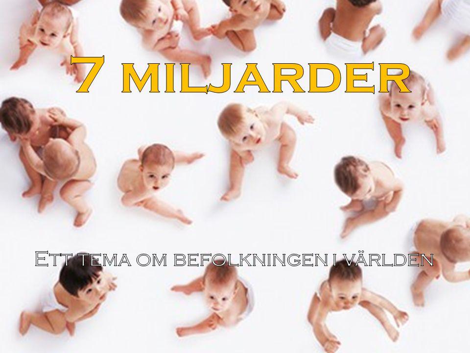 Ett tema om befolkningen i världen