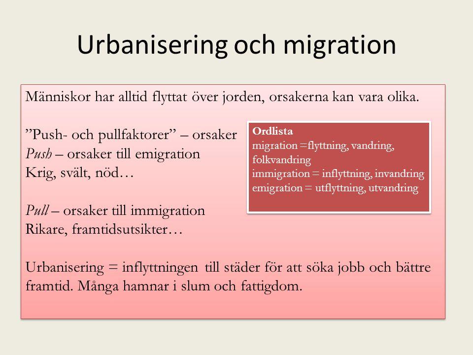 Urbanisering och migration