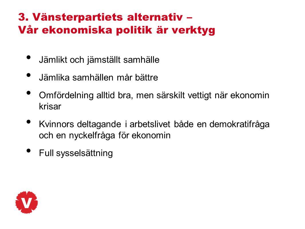 3. Vänsterpartiets alternativ – Vår ekonomiska politik är verktyg