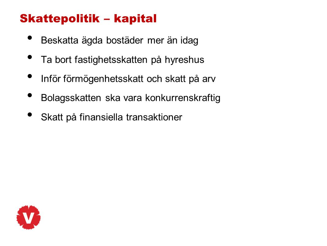 Skattepolitik – kapital