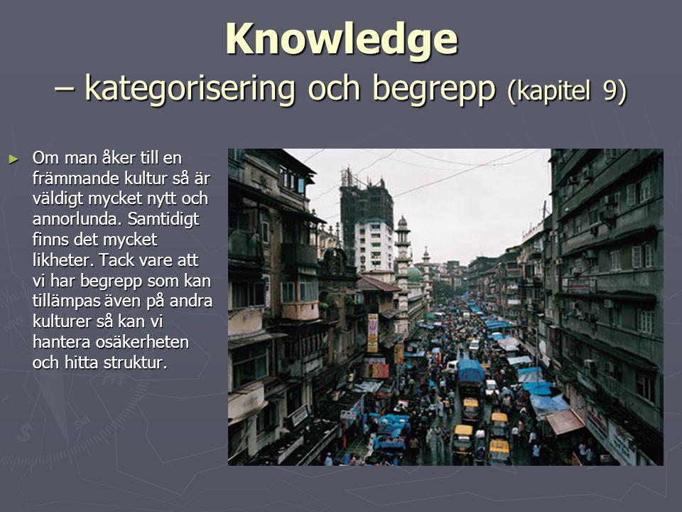 Knowledge – kategorisering och begrepp (kapitel 9)