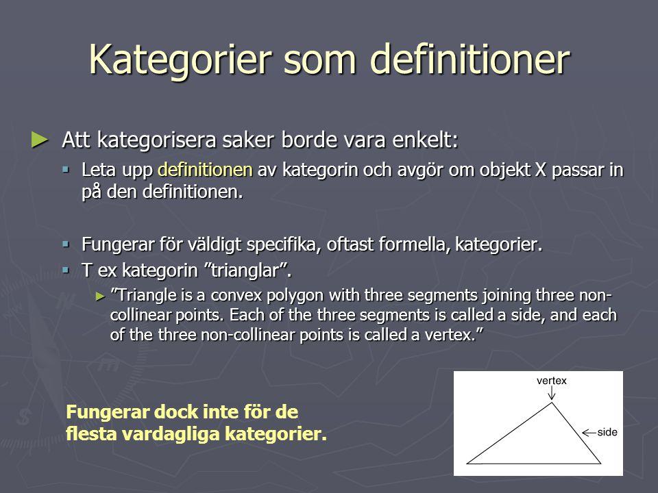 Kategorier som definitioner
