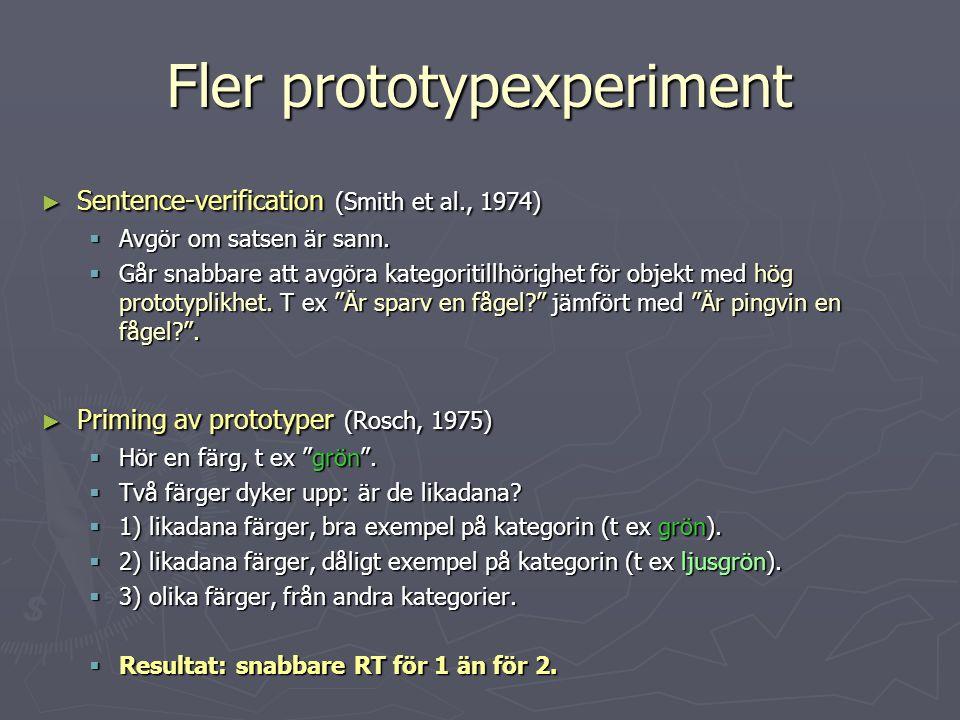 Fler prototypexperiment