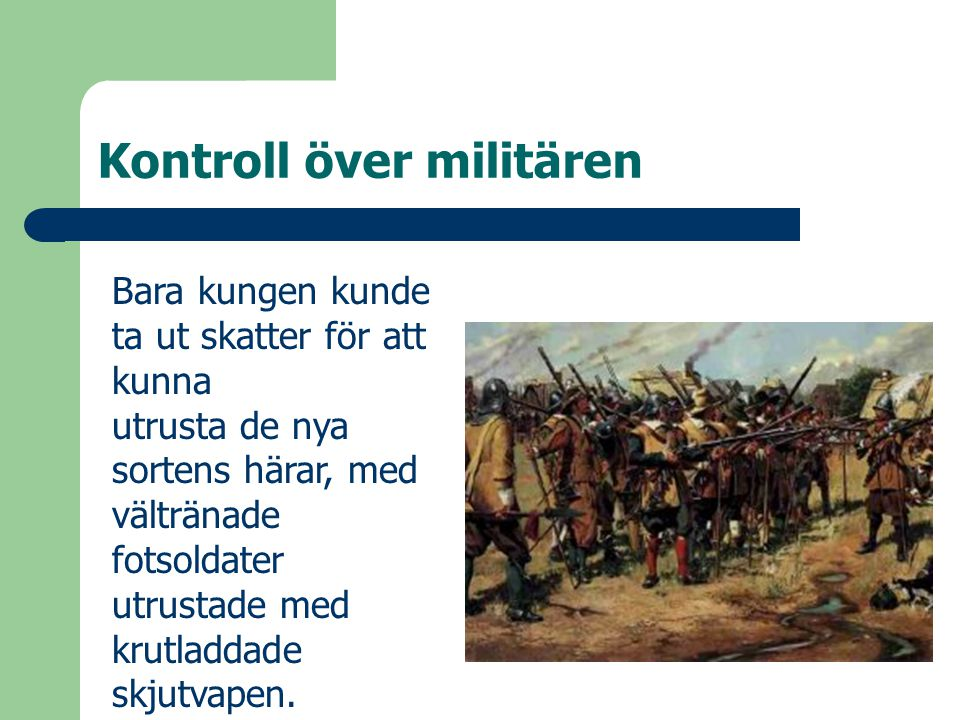 Kontroll över militären