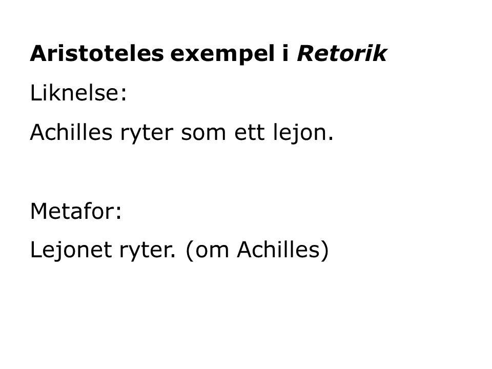 Aristoteles exempel i Retorik