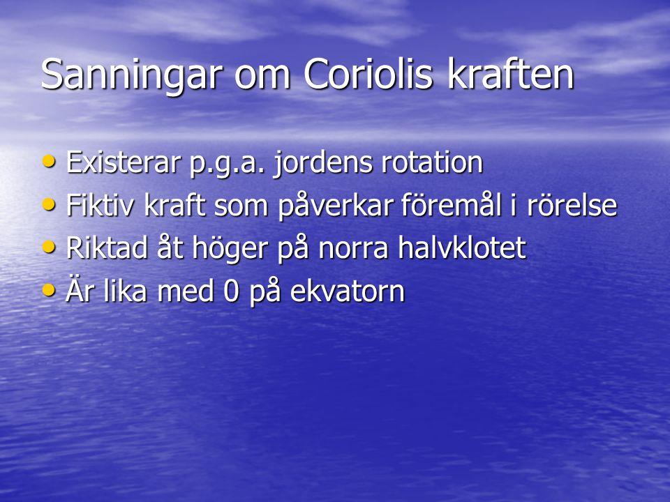 Sanningar om Coriolis kraften