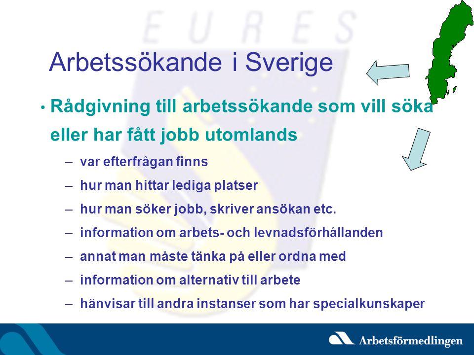 Arbetssökande i Sverige