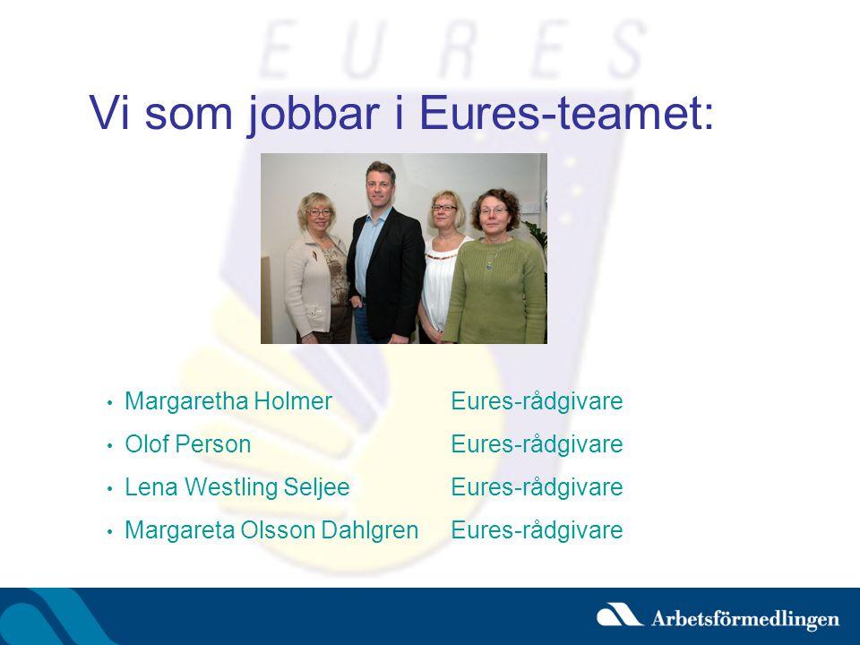 Vi som jobbar i Eures-teamet: