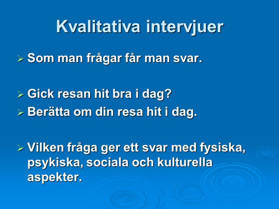 Kvalitativa intervjuer