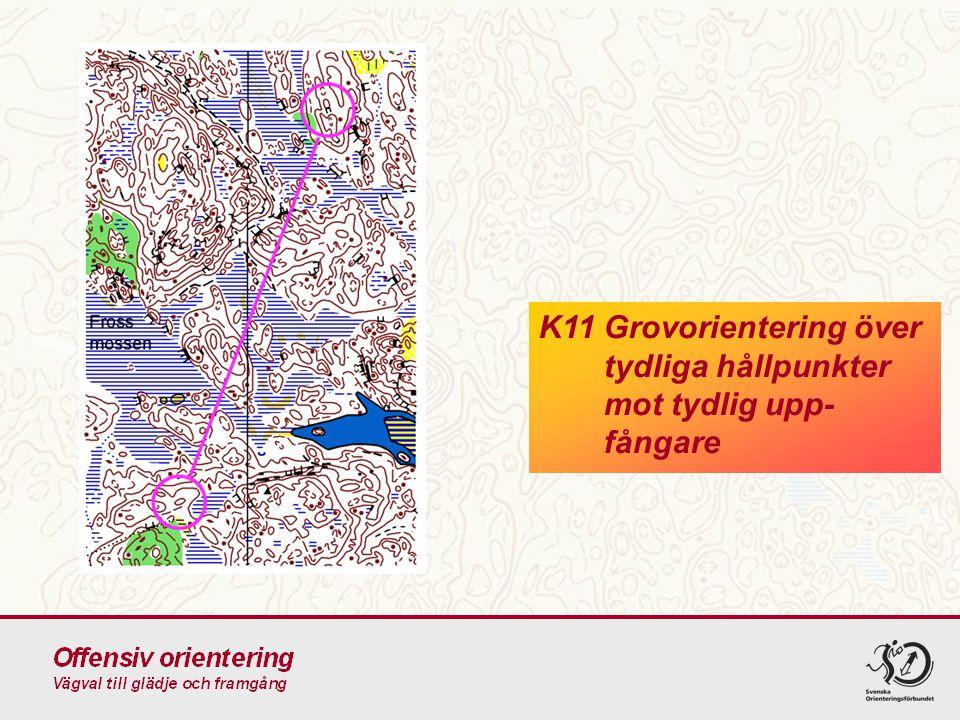 K11 Grovorientering över tydliga hållpunkter mot tydlig upp-fångare