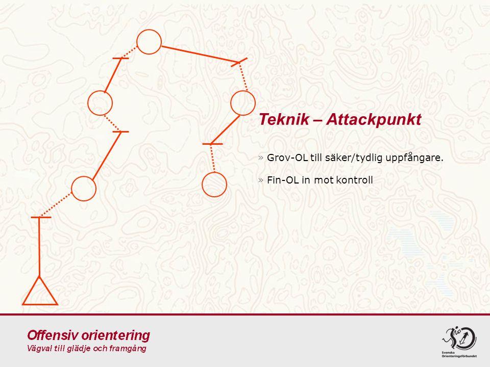 Teknik – Attackpunkt Grov-OL till säker/tydlig uppfångare.