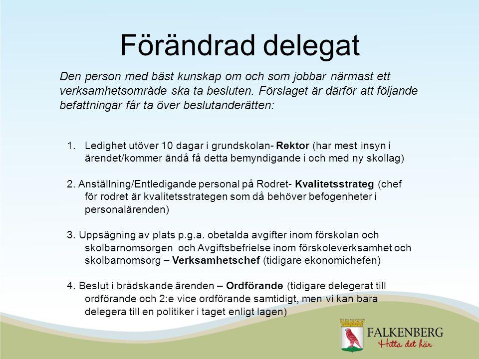 Förändrad delegat