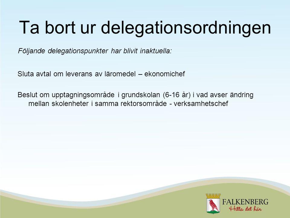 Ta bort ur delegationsordningen