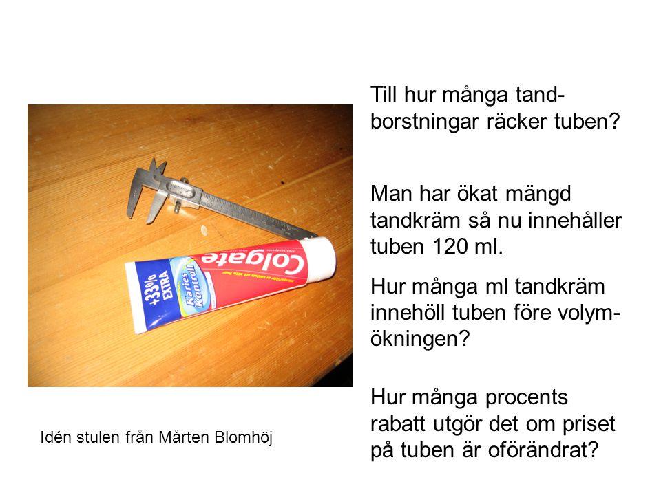 Till hur många tand-borstningar räcker tuben