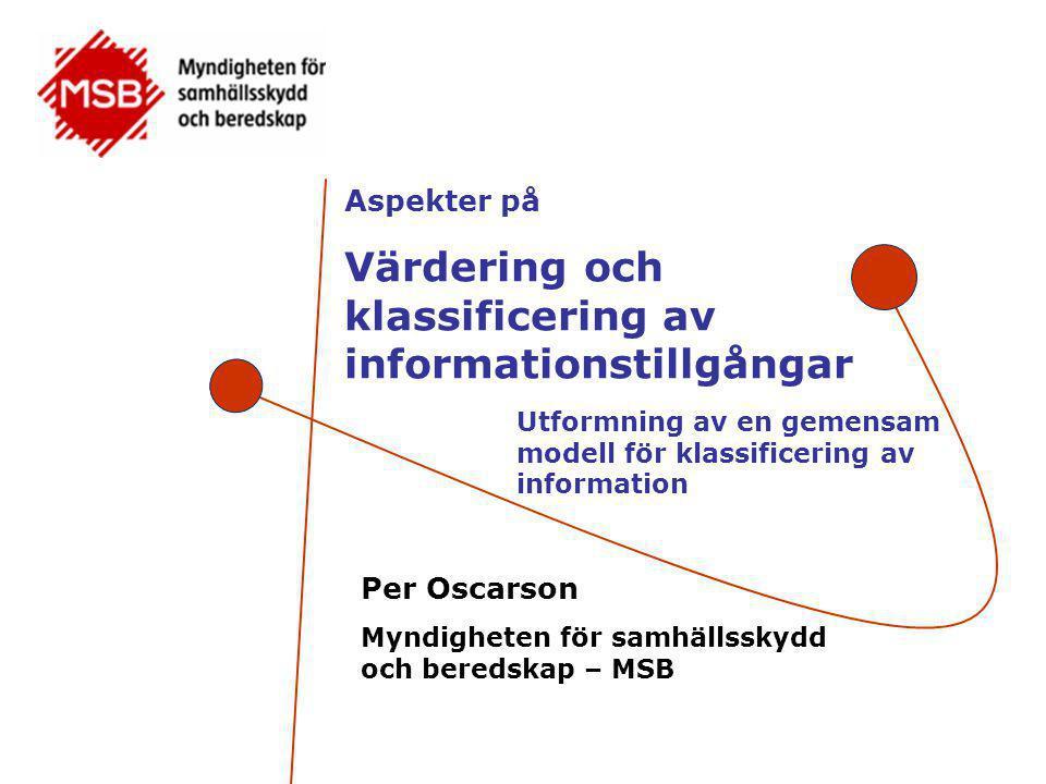 Värdering och klassificering av informationstillgångar