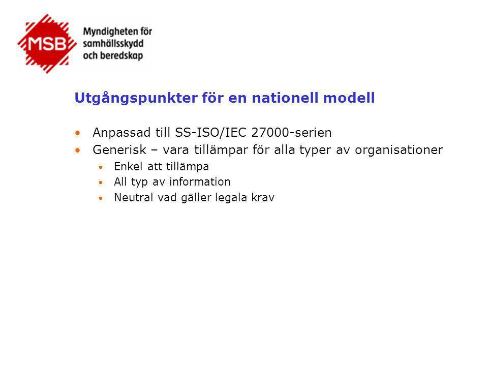 Utgångspunkter för en nationell modell
