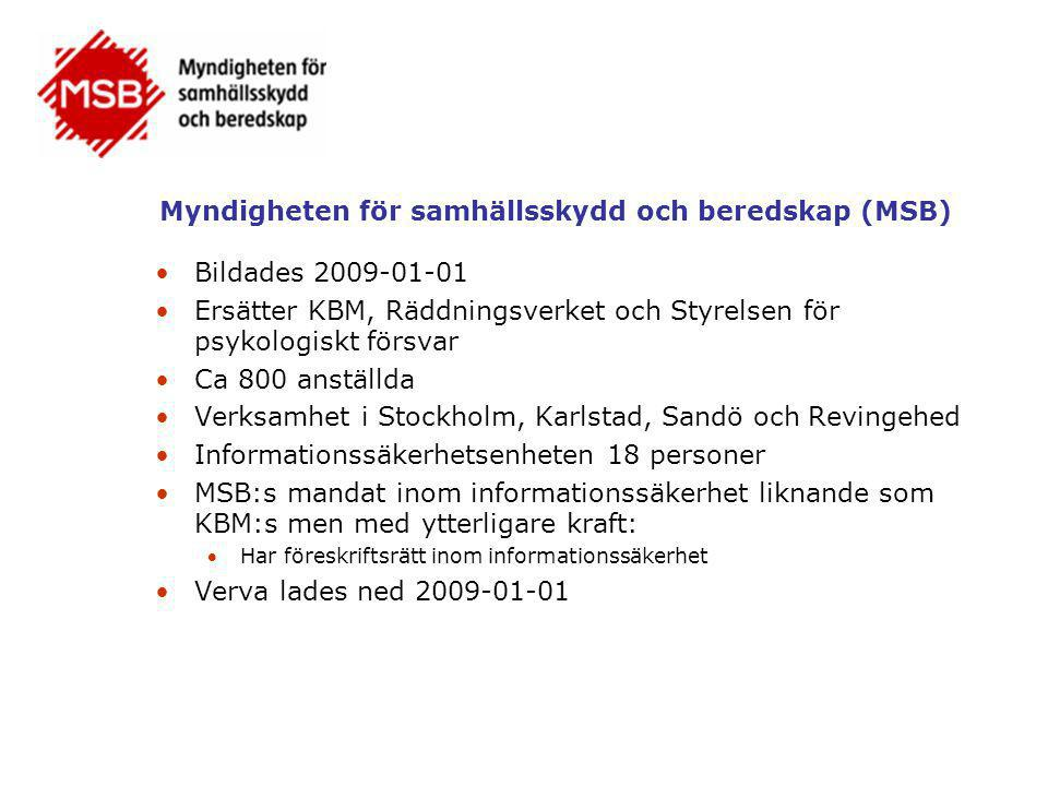Myndigheten för samhällsskydd och beredskap (MSB)