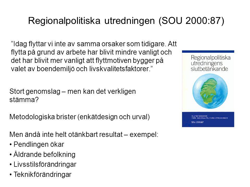 Regionalpolitiska utredningen (SOU 2000:87)