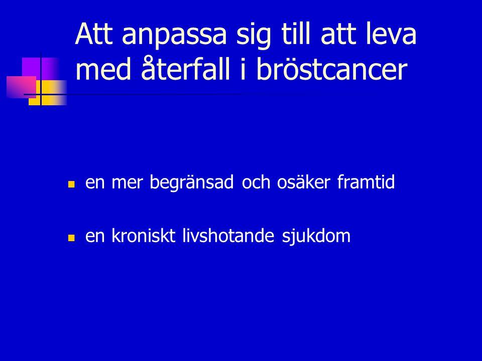 Att anpassa sig till att leva med återfall i bröstcancer