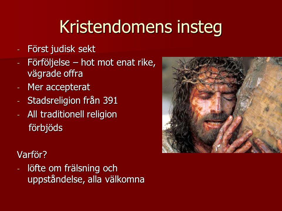 Kristendomens insteg Först judisk sekt