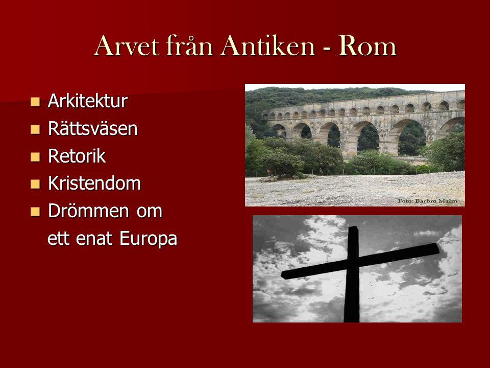 Arvet från Antiken - Rom
