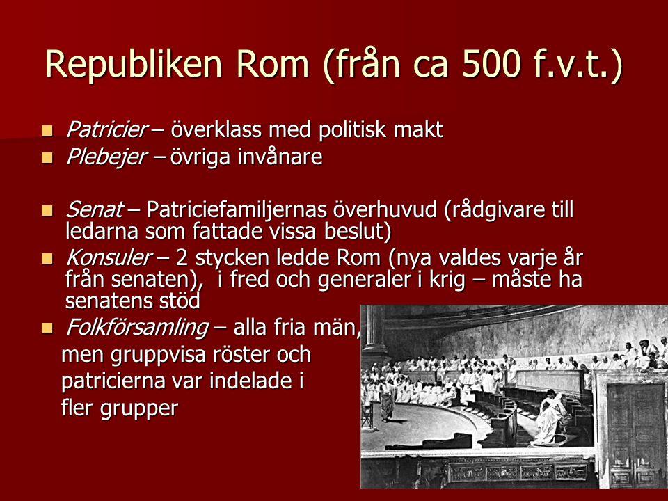 Republiken Rom (från ca 500 f.v.t.)