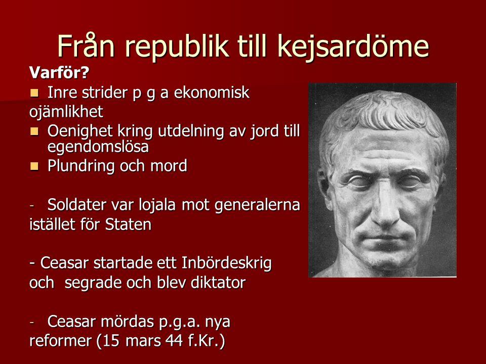 Från republik till kejsardöme