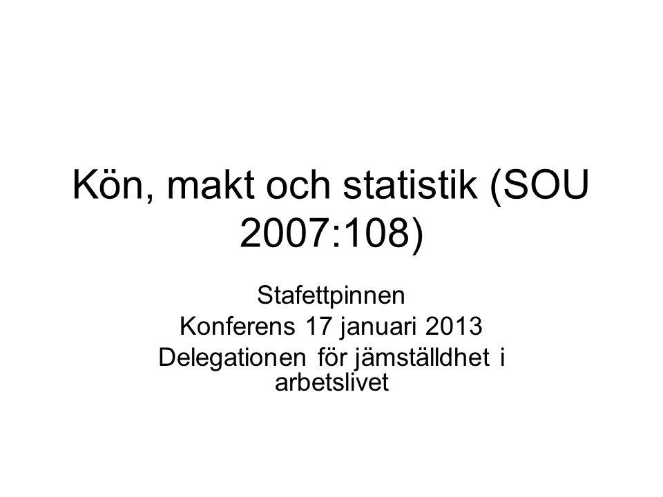 Kön, makt och statistik (SOU 2007:108)
