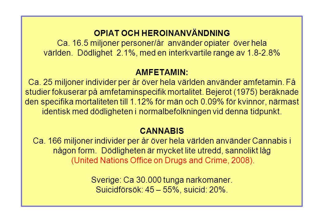 OPIAT OCH HEROINANVÄNDNING Ca. 16