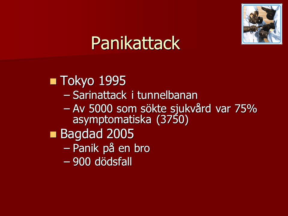 Panikattack Tokyo 1995 Bagdad 2005 Sarinattack i tunnelbanan