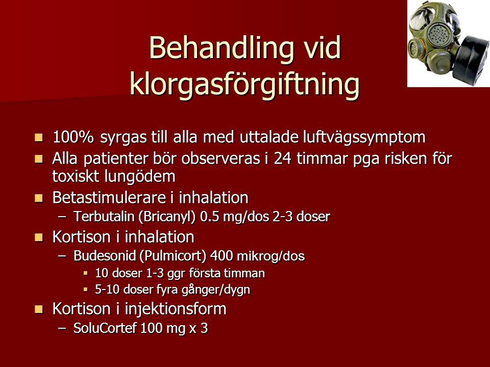 Behandling vid klorgasförgiftning