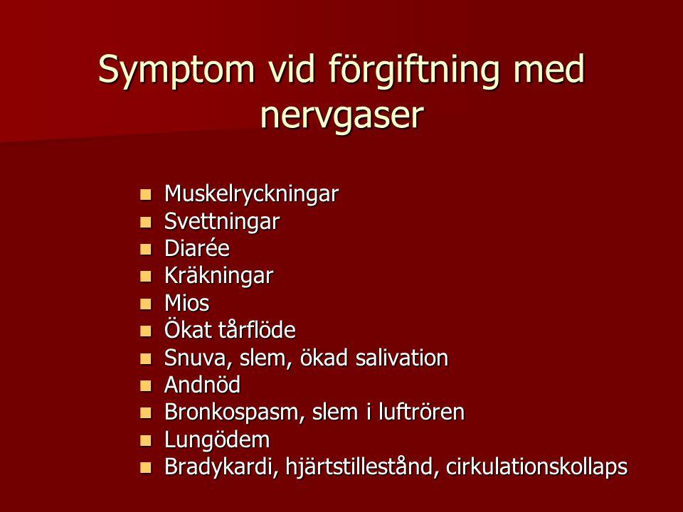 Symptom vid förgiftning med nervgaser