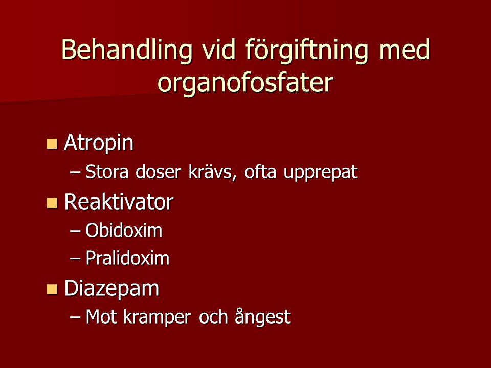 Behandling vid förgiftning med organofosfater