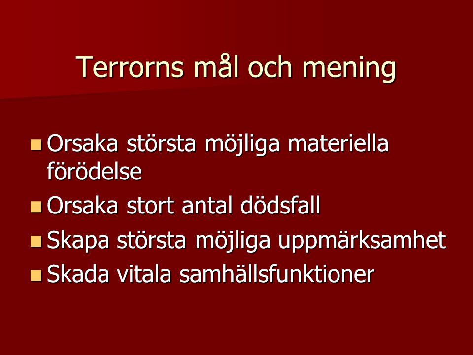 Terrorns mål och mening
