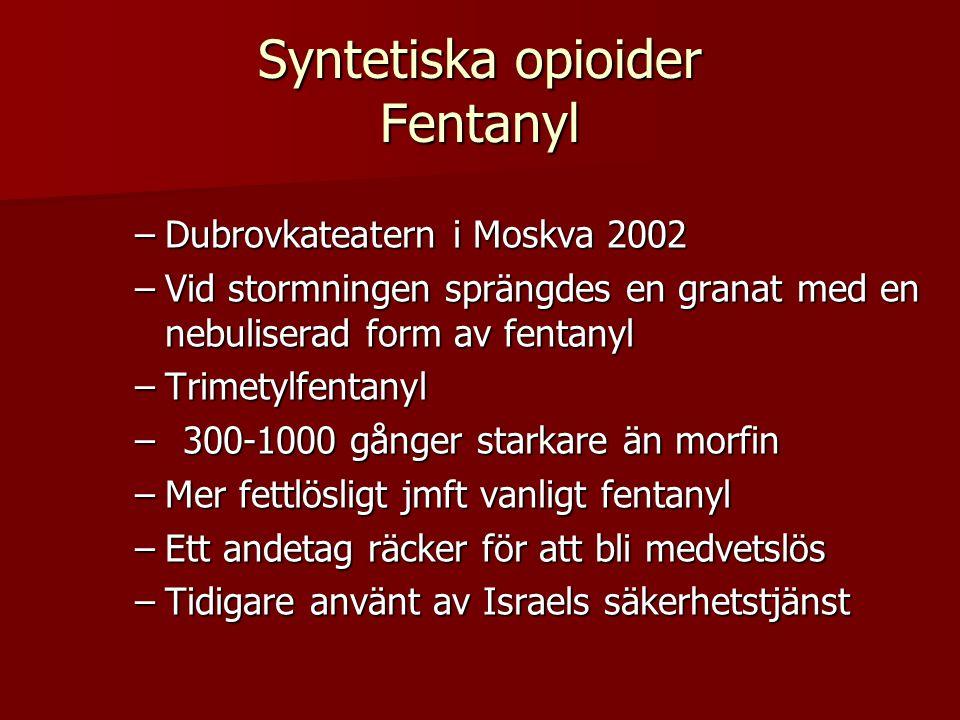 Syntetiska opioider Fentanyl