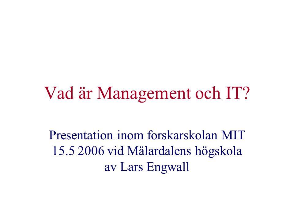 Vad är Management och IT