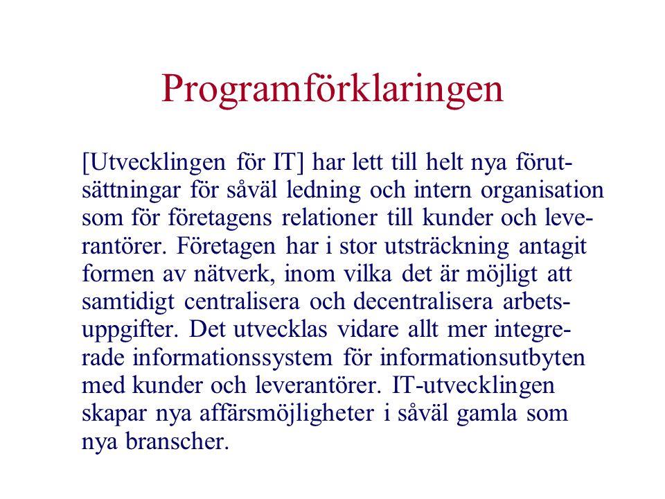 Programförklaringen
