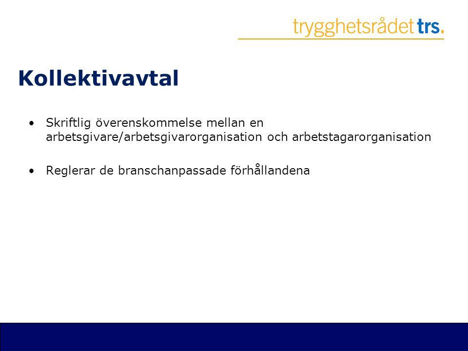Kollektivavtal Skriftlig överenskommelse mellan en arbetsgivare/arbetsgivarorganisation och arbetstagarorganisation.