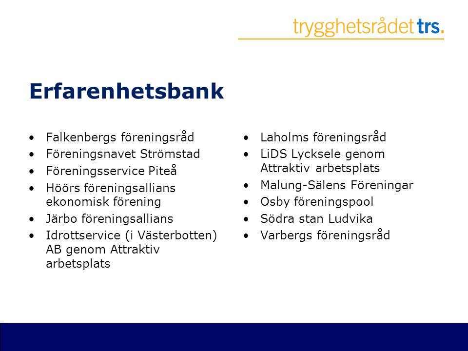 Erfarenhetsbank Falkenbergs föreningsråd Föreningsnavet Strömstad
