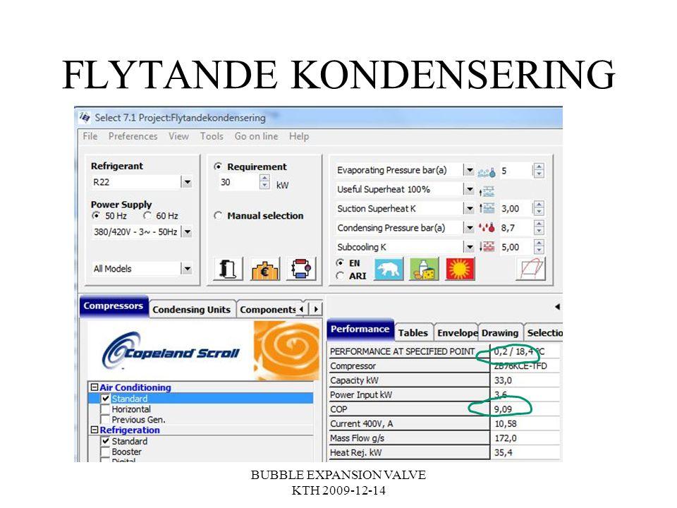 FLYTANDE KONDENSERING