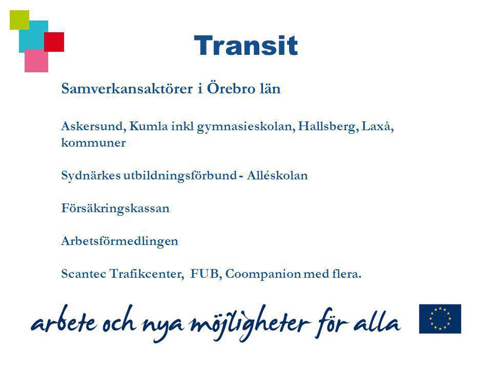Transit Samverkansaktörer i Örebro län