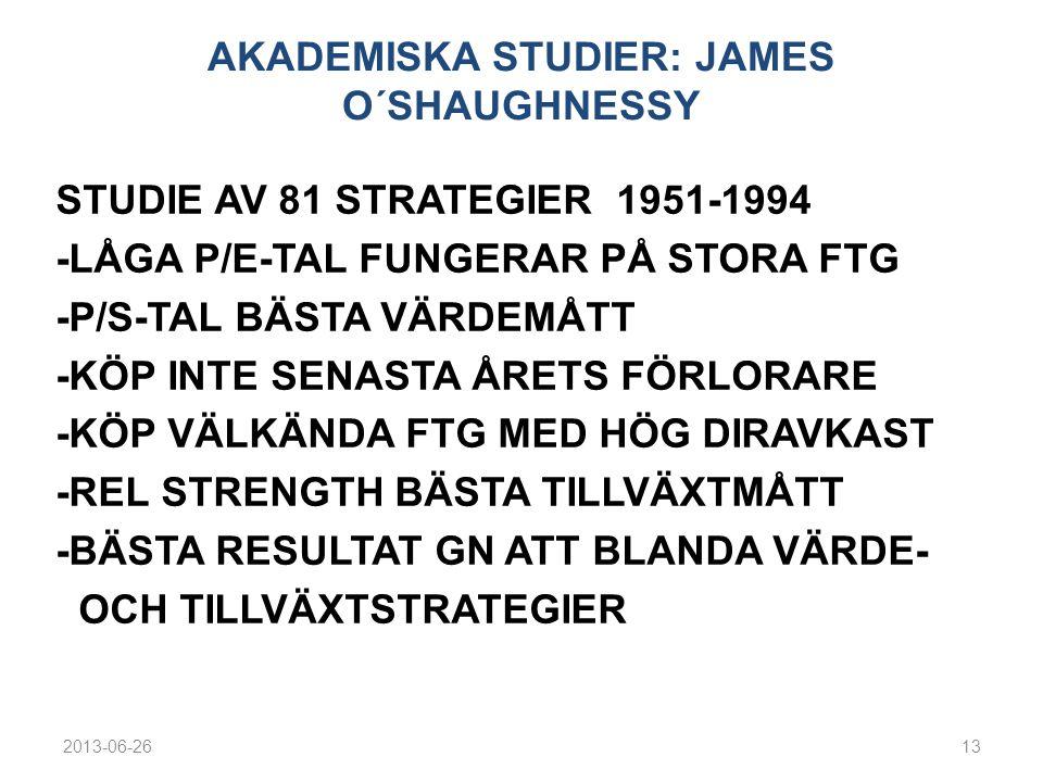 AKADEMISKA STUDIER: JAMES O´SHAUGHNESSY