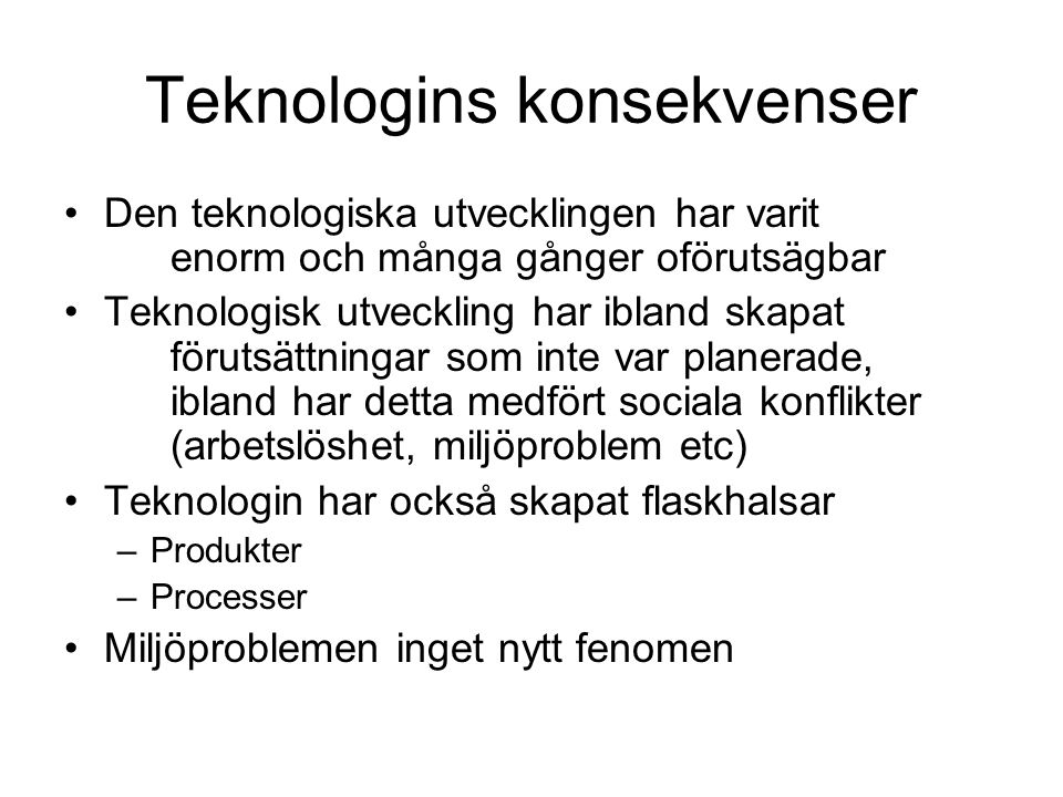Teknologins konsekvenser