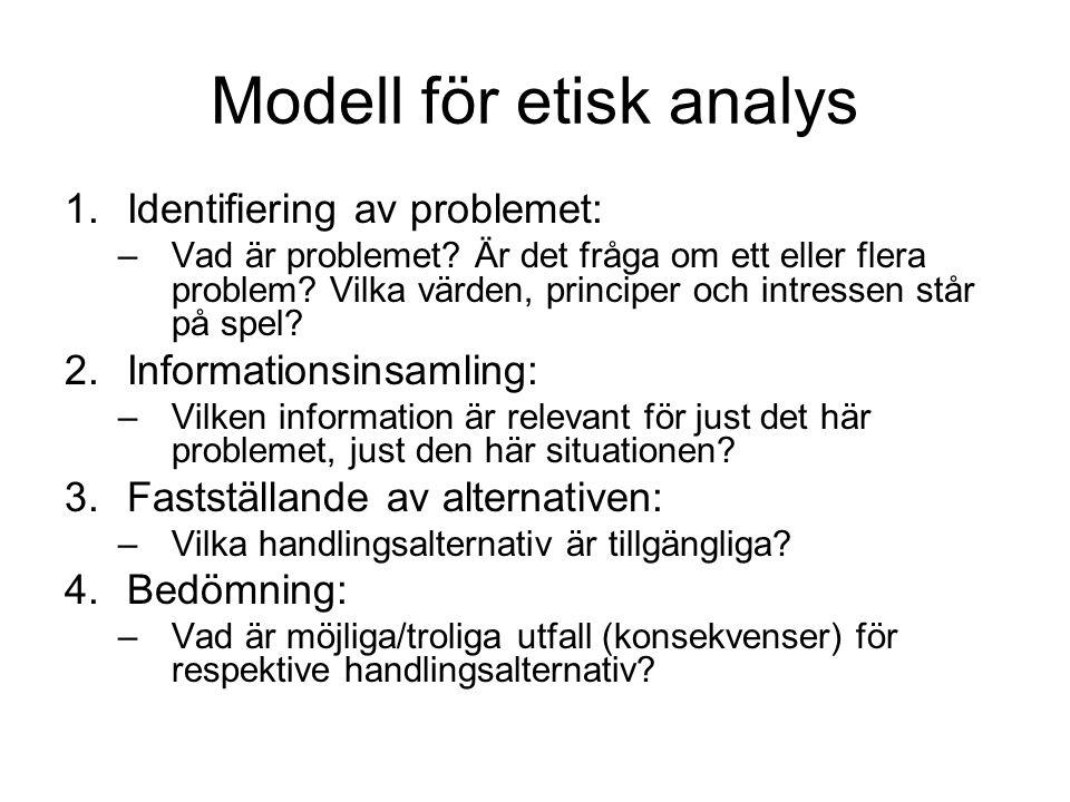 Modell för etisk analys