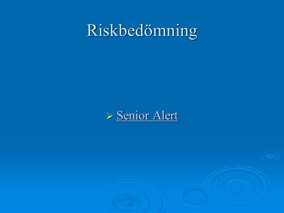 Riskbedömning Senior Alert