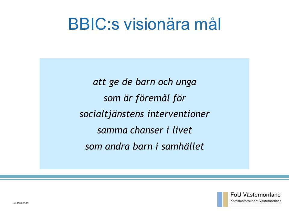BBIC:s visionära mål att ge de barn och unga som är föremål för