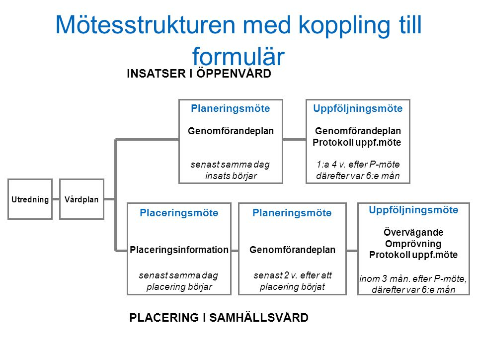 Mötesstrukturen med koppling till formulär