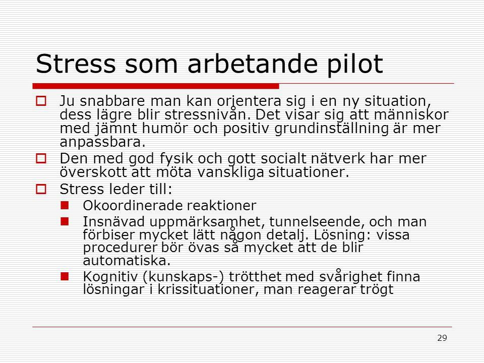 Stress som arbetande pilot